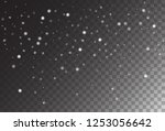 winter snowfall vector holidays ... | Shutterstock .eps vector #1253056642