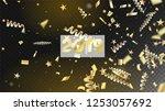 2019 new year confetti... | Shutterstock .eps vector #1253057692