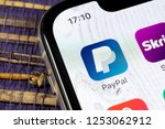 Small photo of Sankt-Petersburg, Russia, December 5, 2018: PayPal application icon on Apple iPhone X smartphone screen close-up. PayPal app icon. PayPal is an online electronic finance payment system.