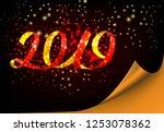 twenty nineteen invitation...   Shutterstock .eps vector #1253078362