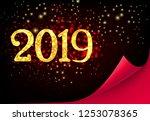 twenty nineteen invitation...   Shutterstock .eps vector #1253078365