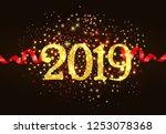 twenty nineteen invitation...   Shutterstock .eps vector #1253078368