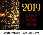twenty nineteen invitation...   Shutterstock .eps vector #1253080195