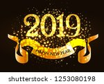 twenty nineteen invitation...   Shutterstock .eps vector #1253080198