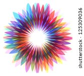 colorful flower  abstract shape ... | Shutterstock .eps vector #125309036