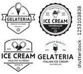 set of vintage ice cream shop... | Shutterstock .eps vector #1253103838