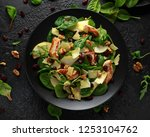 pear  chicken salad with... | Shutterstock . vector #1253104762