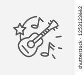 ukulele icon line symbol....