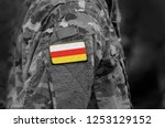 flag of south ossetia on... | Shutterstock . vector #1253129152