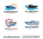 speed boat logo  logo... | Shutterstock .eps vector #1253137855