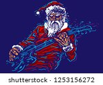 Rock Santa. Festive Character...
