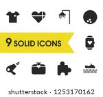 lifestyle icons set with watch...