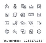 loan line icons. money rate... | Shutterstock .eps vector #1253171158