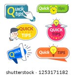 quick tip banners. tips and... | Shutterstock .eps vector #1253171182