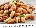 Mix Of Different Nuts In A...