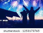 lover women and men asians... | Shutterstock . vector #1253173765