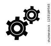 settings gears glyph black icon | Shutterstock .eps vector #1253189545