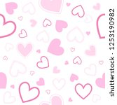 abstract heart pattern isolated ... | Shutterstock .eps vector #1253190982
