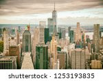helicopter view of downtown... | Shutterstock . vector #1253193835