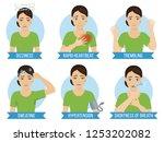 common symptoms of panic attack ... | Shutterstock .eps vector #1253202082