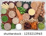 health food with high protein... | Shutterstock . vector #1253213965