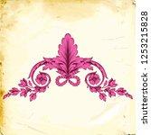 retro baroque decorations... | Shutterstock .eps vector #1253215828