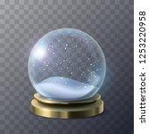 empty snow globe | Shutterstock .eps vector #1253220958