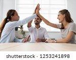 millennial businesspeople... | Shutterstock . vector #1253241898