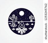 outdoor badge logo illustration | Shutterstock .eps vector #1253245762