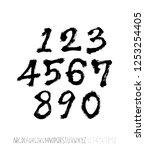 vector fonts   handwritten...   Shutterstock .eps vector #1253254405