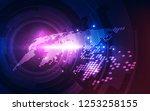 vector digital global... | Shutterstock .eps vector #1253258155