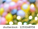 colorful lights defocused... | Shutterstock . vector #1253268958