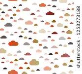 dark orange vector seamless... | Shutterstock .eps vector #1253273188