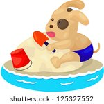 illustration of isolated puppy... | Shutterstock . vector #125327552
