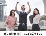 group of business success... | Shutterstock . vector #1253278528