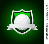 vector golf emblem. No transparency - stock vector