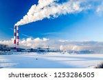cityscape   smoke of factory...   Shutterstock . vector #1253286505