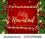 feliz navidad   merry christmas ... | Shutterstock .eps vector #1253298688