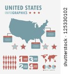 infographics set with different ... | Shutterstock .eps vector #125330102