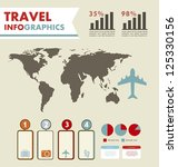 infographics set with different ... | Shutterstock .eps vector #125330156