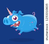 cartoon illustration of a crazy ... | Shutterstock .eps vector #1253310835
