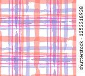 plaid. seamless grunge texture... | Shutterstock .eps vector #1253318938