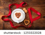 valentines day. cup of... | Shutterstock . vector #1253322028
