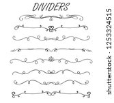 thin line decoration dividers... | Shutterstock .eps vector #1253324515