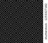 chevrons  rhombuses wallpaper.... | Shutterstock .eps vector #1253327182