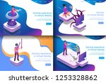 set isometric illustration... | Shutterstock .eps vector #1253328862