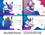 isometric illustration virtual... | Shutterstock .eps vector #1253335138