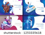 isometric illustration virtual... | Shutterstock .eps vector #1253335618