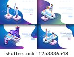 isometric illustration virtual... | Shutterstock .eps vector #1253336548