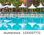 hotel in turkey with pool in... | Shutterstock . vector #1253337772